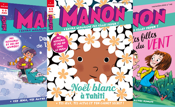 Les couvertures des derniers magazines Manon