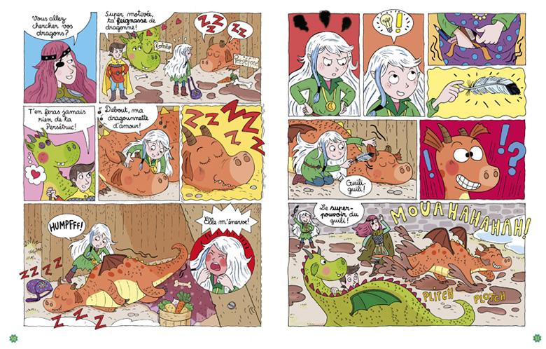 BD - Moün dresseuse de dragons - planche