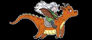 BD - moun dresseuse sur dragon